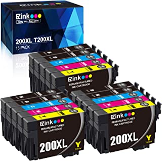 E-Z Ink (TM) Remanufactured Ink Cartridge Replacement for Epson 200XL 200 XL T200XL to use with XP-200 XP-300 XP-310 XP-400 XP-410 WF-2520 WF-2530 WF-2540 (15 Pack)