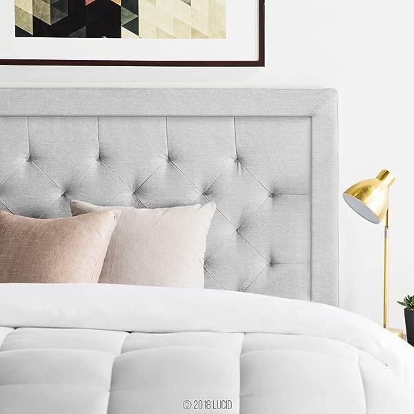 LUCID 镶边软垫床头板与钻石簇拥加州国王石