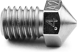 Micro Swiss Plated A2 Hardend Tool Steel Nozzle RepRap - M6 Thread 1.75mm Filament .4mm (E3D V5 V6 / Prusa i3 MK2)