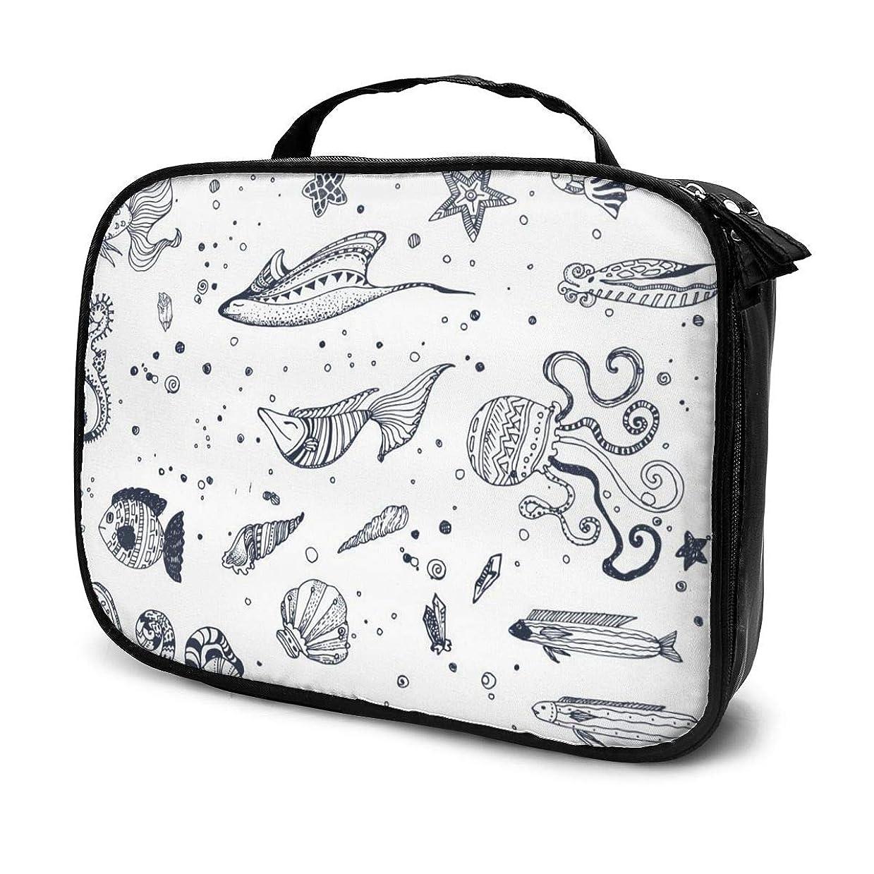致死安価な連続した収納袋オーシャンパーク化粧品袋耐摩耗性軽量ポータブル高品質大容量旅行ポーチバスルームポーチ旅行小物整理約8×25×19cm
