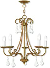 Livex Lighting 40875-48 Daphne 5 Light Antique Gold Leaf Chandelier