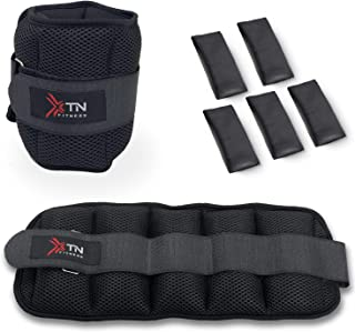 XTN Fitness Adjustable Ankle Weights Set, Ankle Wrist Weight Straps, with Removable Weight 0.4Kg-2.0Kg for Per Ankle made ...
