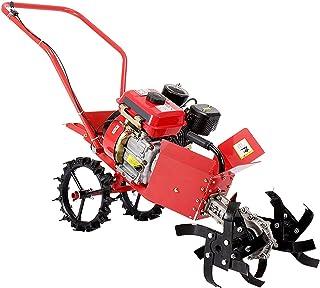 QILIN Tiller - 4-stroke Multi-kinetic Energy Tiller, 4KW 212cc High-power Micro-tiller, Multiple Tilling Widths, Red