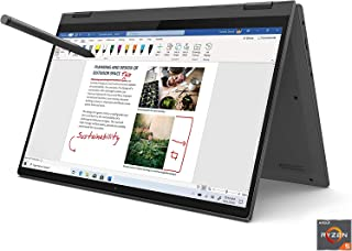 "Lenovo Flex 5 14"" 2-in-1 Laptop, 14.0"" FHD (1920 x 1080) Touch Display, AMD Ryzen 5 4500U Processor, 16GB DDR4 OnBoard RAM..."