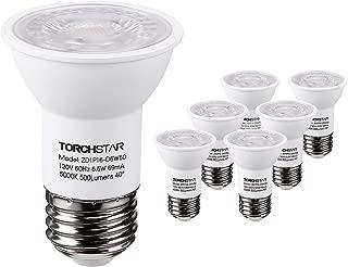 TORCHSTAR PAR16 LED Spot Light Bulb, Dimmable 6.5W (50W Eqv.), 500lm, 40° Beam Angle, UL & Energy Star Listed Spotlight, 5000K Daylight, E26 Medium Base, 5 Year Warranty, Pack of 6