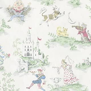 Carousel Designs Nursery Rhyme Toile Fabric by The Yard