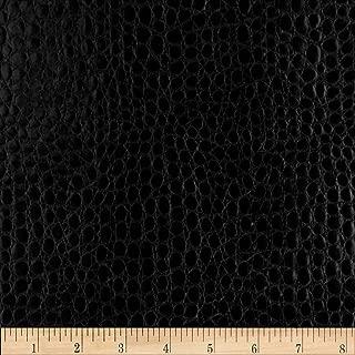 Plastex Fabrics Faux Leather Crocodile Black Fabric By The Yard