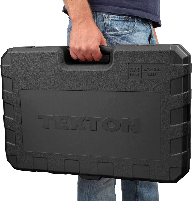 27-Piece TEKTON 3//4 Inch Drive Deep 6-Point Socket /& Ratchet Set 19-50 mm   SKT35206