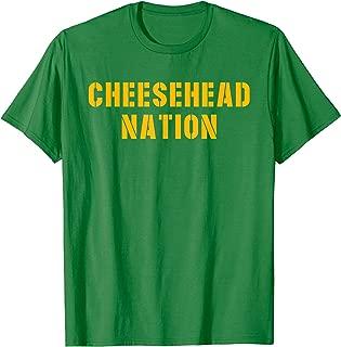 Cheesehead Nation Green Bay Football Vintage Packer Gift T-Shirt