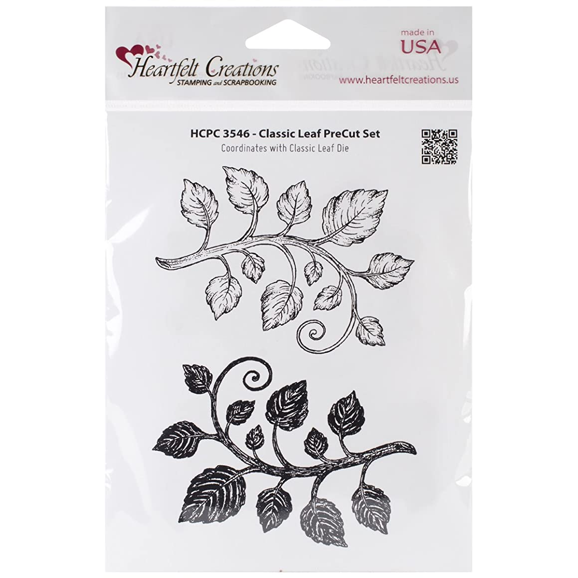 Heartfelt Creations Classic Leaf Cling Rubber Stamp