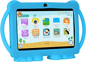 Xgody T702 7 Inch HD Tablet PC for Kids Quad Core Android 8.1 1GB RAM 16GB ROM Touch Screen with WiFi Pre-Loaded 3D Game Dual Camera Blue