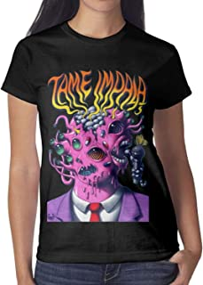 YMAIZ Women The-Flaming-Lips-Peace-and-Paranoia-Tour-2013- Tee Shirts Cotton Funny Short Sleeve