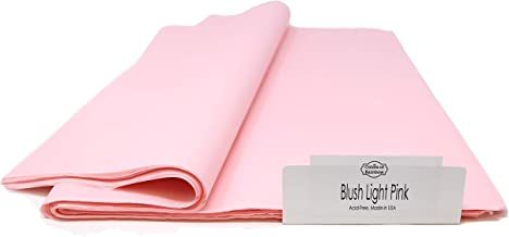 Blush Light Pink Tissue Paper - 96 Sheets - 15 Inch x 20 Inch - for Gift Bags, Gift Wrapping, Flower, Party Decoration, Pom Poms - Premium Quality Made in United States