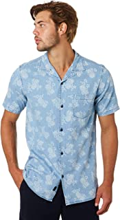 Academy Brand Men's Quigg Mens Ss Shirt Short Sleeve Cotton Blue