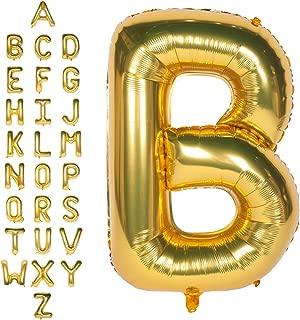 40 Inch Gold Letter B Helium Foil Mylar Jumbo Balloons Wedding Party Single Birthday Large Alphabet Balloons Gift Celebration Graduation Anniversary A to Z
