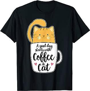 Funny Orange Cat Coffee Mug Tshirt Cat Lover Gifts