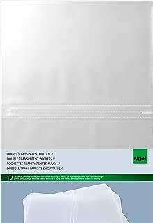 Leitz 23823 - Plástico para documentos (PVC granulado, A4), diseño transparente, 100 Unidades