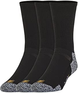 PowerSox Men's Power-Lites 3-Pack Crew Socks with Moisture Control