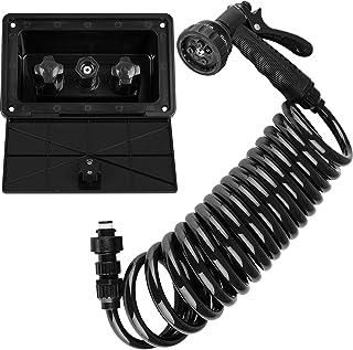 Dura Faucet DF-SA189-BK RV Exterior Quick Connect Sprayer, Hose, and Exterior Spray Box Kit (Black)