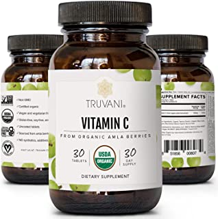 TRUVANI Vitamin C | USDA Organic | High Absorption, Antioxidant Supplement, Higher Bioavailability Immune System Support |...