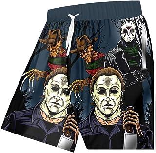 Kurze Hosen Herren Shorts Männer Cool Beach Shorts 3D Gedruckt Kreativ The People Stitching Cool Spandex Clothing