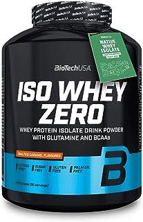 BioTechUSA Iso Whey ZERO, Lactose, Gluten, Sugar FREE, Premium Whey Protein Isolate, 2.27 kg, Salted Caramel