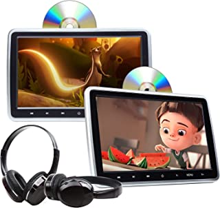 2021 Newest-10.1 Inch DVD Player Headrest Car DVD Player Dual Universal Vehicle Headrest Monitor Portable DVD Player for K...