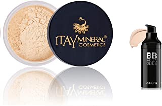 Bundle 2 Items: BB Aqua Glide 3-in-one skin-perfecting prime, moisturize and conceal imperfections Color 02-Sandstone + Itay Mineral Matching Powder Foundation - Light Skin (MF-2 FRENCH VANILLA)