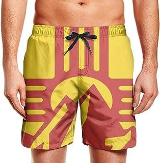 odin sky Tabla de Surf para Hombre Shorts Mountain Sunset Zia Swim Trunks con cordón