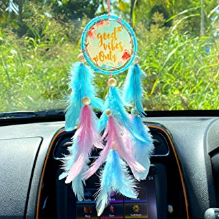 Rooh dream catcher ~ Good Vibes Car Hanging ~ Handmade Hangings for Positivity (Can be used as Home Dcor Accents, Wall Han...