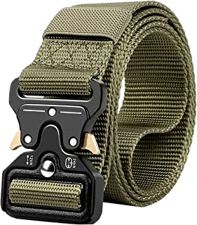 RONGQI Tactical Belt,Military Style Quick Release Belt,1.5 Nylon Riggers Belts for Men,Heavy-Duty Quick-Release Metal Buckle-(63inch)