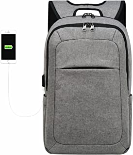 Kopack Computer Backpack 17 inch Water Resistant/USB Port/Anti-Theft Slim Travel Laptop Backpack for College School Business Black
