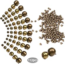 Zhiheng 112pcs Assorted 9 Sizes Antique Bronze Jingle Bells Sleigh Bell Charms Beads Pendants for Bracelet Necklace Jewelry Making Dream Catcher Hairband Christmas Decorations Craft Supplies