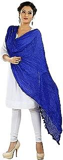 Indian Dresses Store Nakoda Creation Women's Dupatta Blue