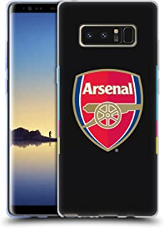 Official Arsenal FC Home Goalkeeper 2016/17 Crest Kit Soft Gel Case Compatible for Samsung Galaxy Note8 / Note 8
