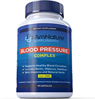 Sale!!! Blood Pressure Complex Pills to Support Natural Blood Pressure Level - Advanced Supplement Vitamins & Herbs with G...