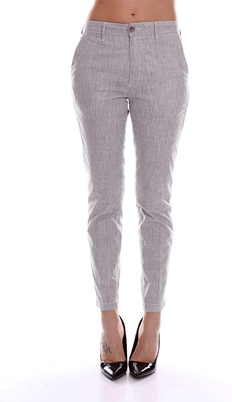 Barba Women's 8413ELLENGREY Grey Cotton Pants