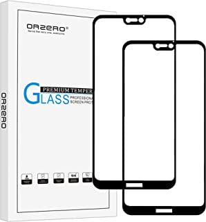(2 Pack) Orzero Compatible for Huawei P20 Lite Tempered Glass Screen Protector, 2.5D Arc Edges 9 Hardness HD Anti-Scratch Full-Coverage (Lifetime Replacement Warranty)