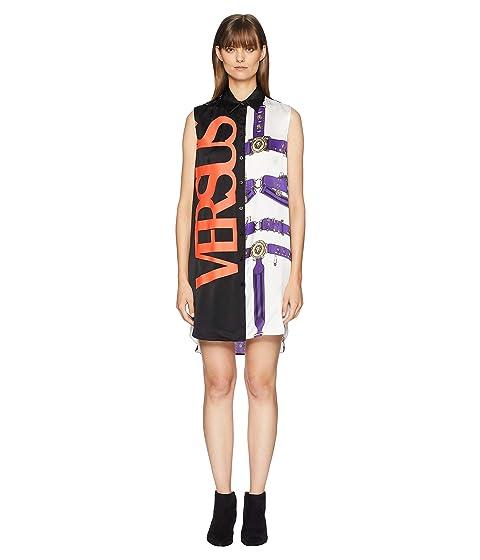Versus Versace Abito Donna Tessuto Satmpato Shirtdress