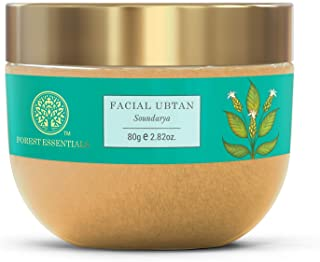 Forest Essentials Facial Ubtan Soundarya 80g (Face Scrub, Face Wash)