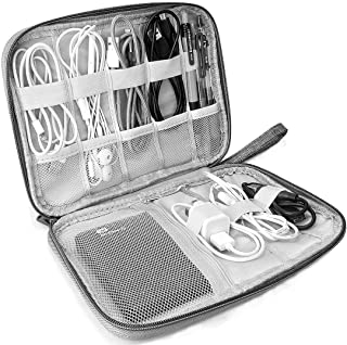 DELFINO Electronics Organizer, Electronic Accessories Bag Travel Cable Organizer Small Electronic Accessories Carrying Bag...