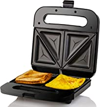 Ovente Electric Breakfast Sandwich Grill Maker Nonstick Cast Iron Toaster Plates, Portable 750 Watts Easy Cooking Grilling...
