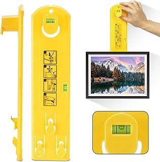 Picture Frame Hanging Kit, Portable Picture Hanging Tool Hanger Hardware, Multifunction Picture Frame Hanger Tool Ruler Bu...