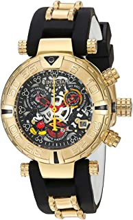 Invicta Women's Disney Limited Edition Stainless Steel Swiss-Quartz Watch with Silicone Strap, Two Tone, 11 (Model: 22737)