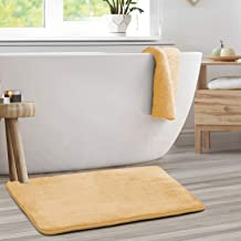 Memory Foam Bathrug ? Beige (Cream) Bath Mat and Shower Rug Large 20 x 32 Inches Non Slip Latex Free Plush Microfiber. Com...