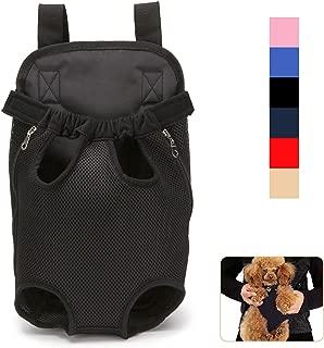 Lovinouse Pet Carrier Backpack, Breathable Adjustable Pet Front Pack Carrier with Shoulder Strap and Sling, Legs Out Dog Travel Bag for Walking Traveling Hiking Camping