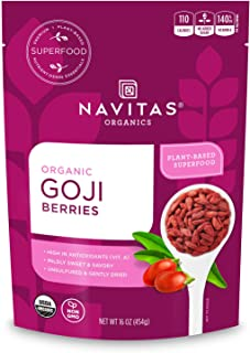 Sponsored Ad - Navitas Organics Goji Berries, 16 Ounce. Bag, 15 Servings Organic, Non-GMO, Sun-Dried, Sulfite-Free