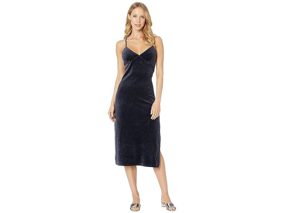Juicy Couture Stretch Velour Cross-Back Slip Dress (Regal) Women