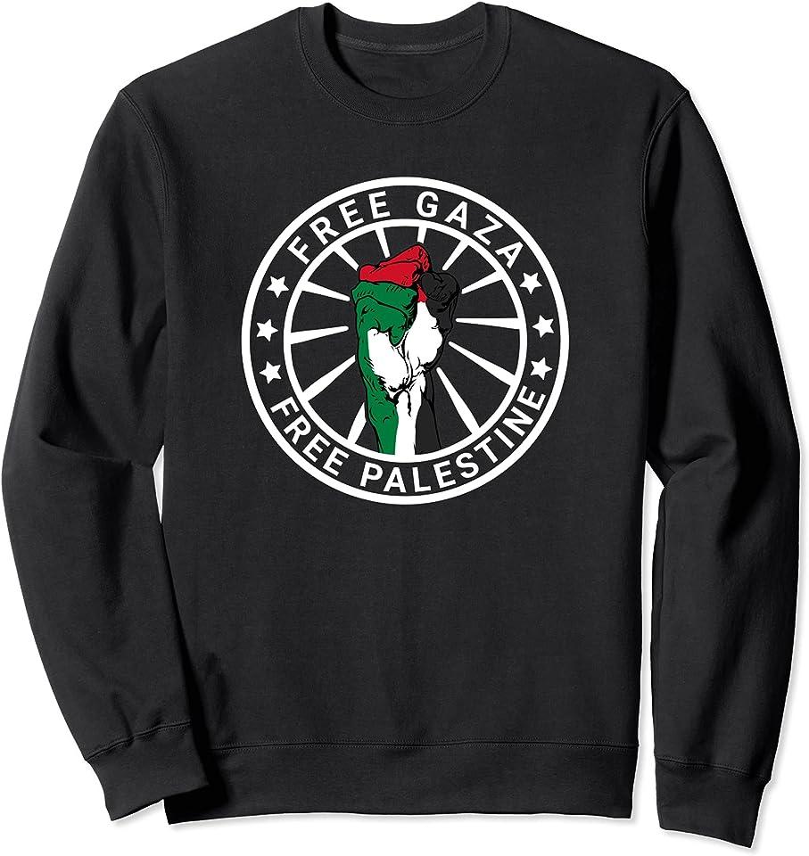 Free Gaza Free Palestine Palästinensische Flagge Palästina Sweatshirt
