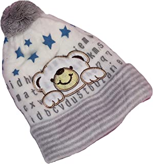 GRAPPLE DEALS Baby Winter wear Woolen Cap Age 12 to 18 Months.(Any Color- 1 Pcs)